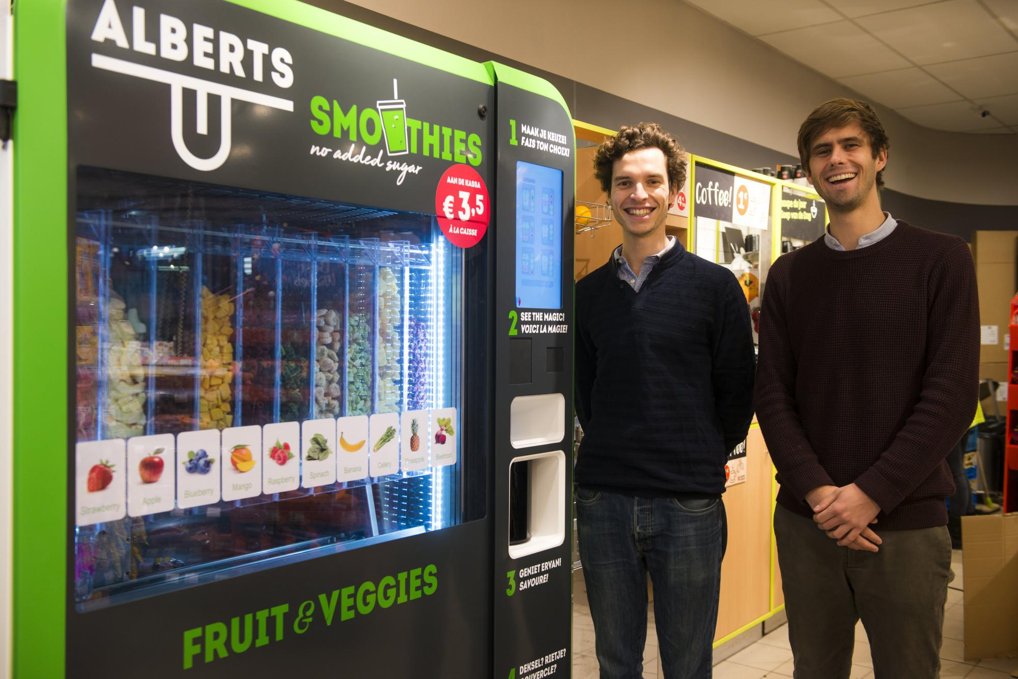 Founders Philippe (left) and Glenn (right) at Smoothie Station